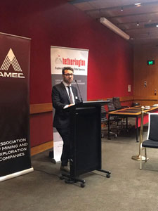 Company Principal David Salim giving the welcome address at the AMEC End of Year drinks